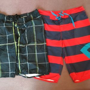 DCShoe and BlueBear Board Shorts - Good Condition